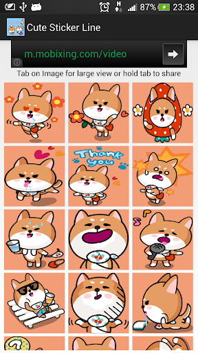 Cute Sticker Line