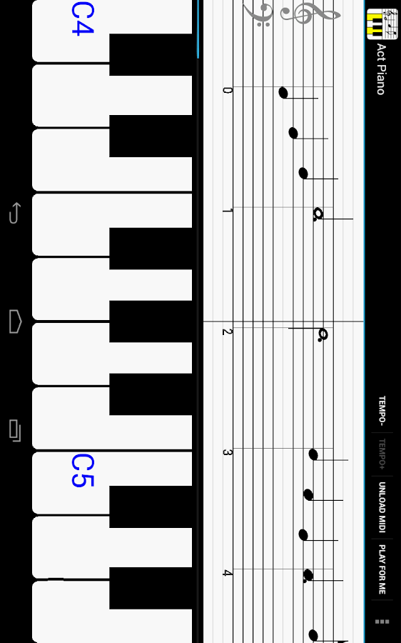 Act Piano:notation,midi,score - screenshot