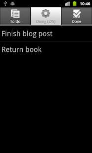 Personal Kanban for Android- screenshot thumbnail