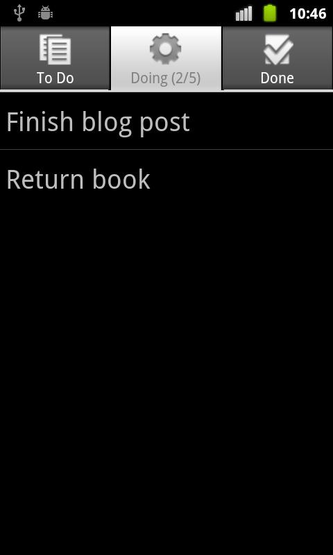Personal Kanban for Android- screenshot