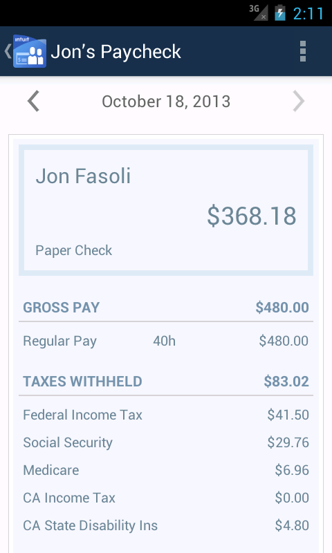 Online Payroll - screenshot
