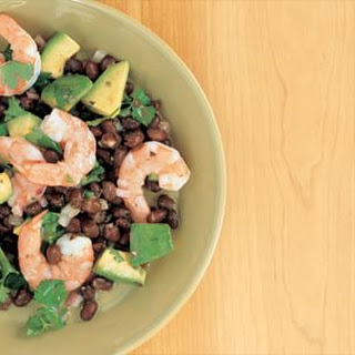 Black Beans and Avocado with Shrimp