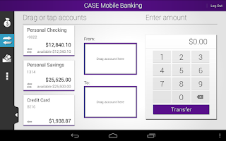 Screenshot of CASE Credit Union Mobile