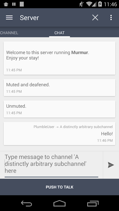 Plumble - Mumble VOIP (Free)- screenshot