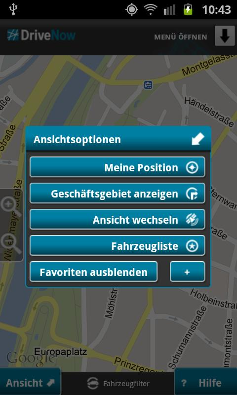 DriveNow Car Sharing - screenshot