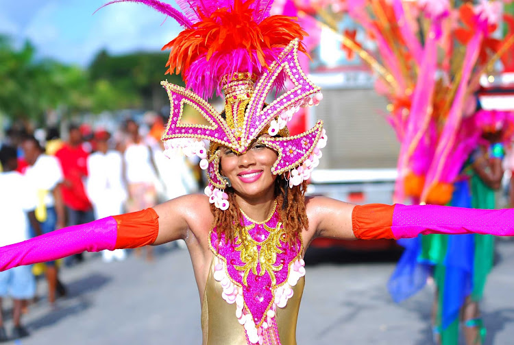A dancer in Anguilla during the annual Carnival.