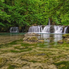 Monte Gelato Falls by Eric Niko - Landscapes Waterscapes ( water, acqua, monte gelato, d700, green, falls, cascate, 16-35, verde, , renewal, trees, forests, nature, natural, scenic, relaxing, meditation, the mood factory, mood, emotions, jade, revive, inspirational, earthly, relax, tranquil, tranquility )