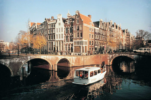 Bridges in Amsterdam, the Netherlands.