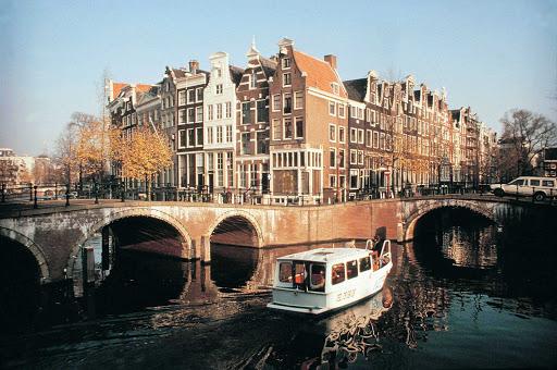 Bridges in Amsterdam, the Netherlands.