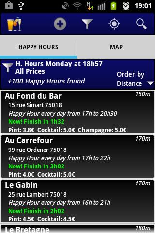 Screenshot 2 Happy Hours Paris