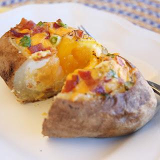 Egg-Stuffed Baked Potatoes