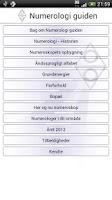 Screenshot of Numerologi Guiden