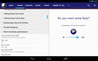 Screenshot of Michif To Go