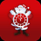 Santa Xmas Clock LiveWallpaper