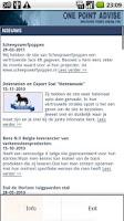 Screenshot of 1Point news