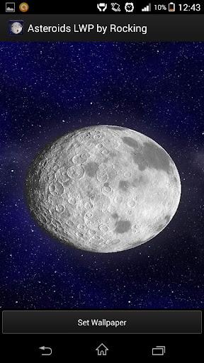Asteroids Moon Live Wallpaper