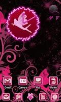 Screenshot of Fairy Pink Go Launcher EX