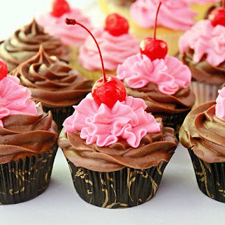 Chocolate Chip Cherry Cupcakes