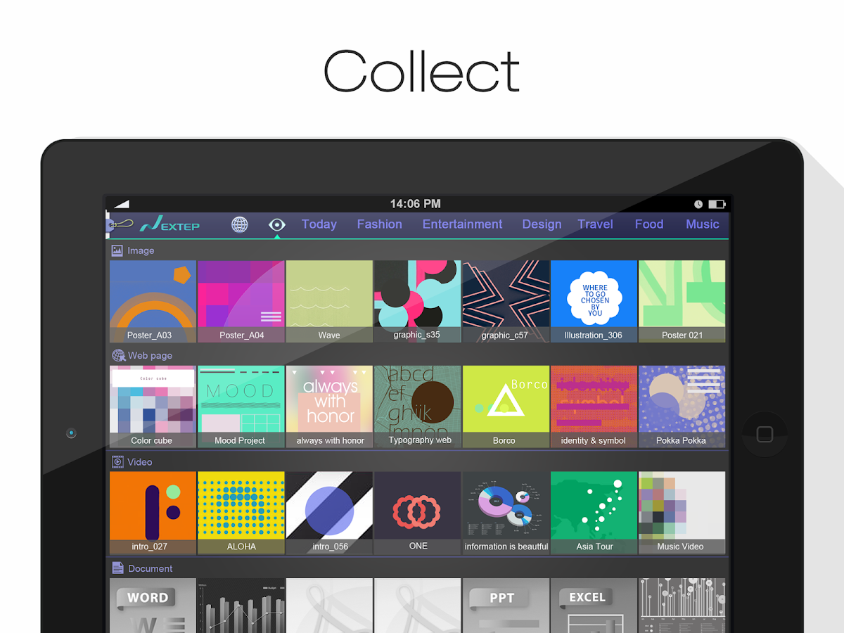 Nextep –Search, Collect, Share- screenshot