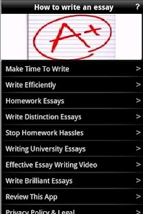 How to write an essay android apps on google play