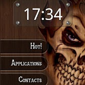 Wood Skull ssLauncher Theme
