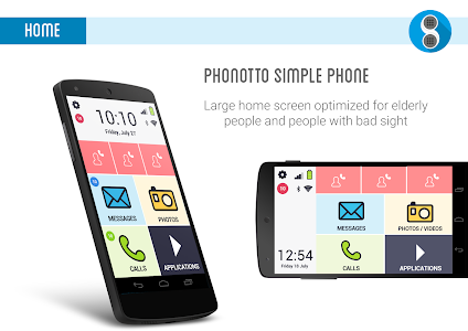 Phonotto Simple Phone Launcher screenshot 0