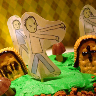 Zombie Graveyard Cake