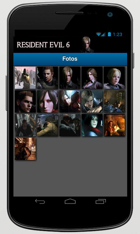 Resident Evil 6+ App - screenshot