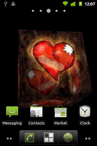 Broken Heart 3D Live Wallpaper - screenshot