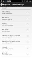 Screenshot of Dashclock Updates Extension