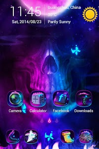 Ghost Fire GO Launcher Theme v1.0