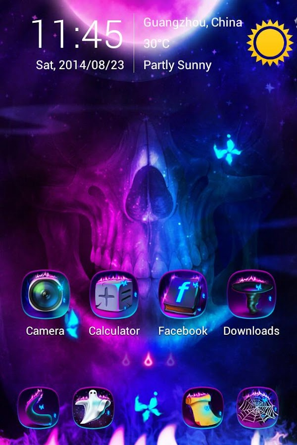 Ghost Fire GO Launcher Theme - screenshot