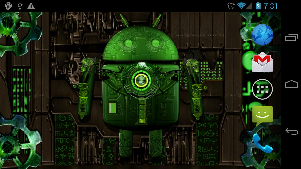 Steampunk Droid Free Wallpaper - screenshot