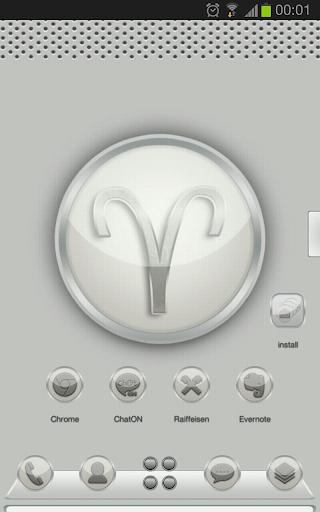 Next launcher theme Zodiac