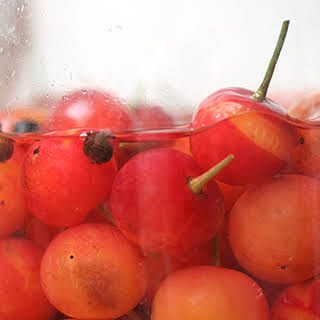 Pickled Sour Cherries.