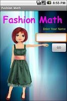 Screenshot of Fashion Math