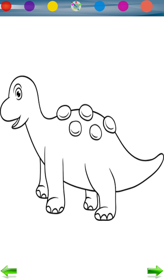 Dinosaurs coloring game- screenshot