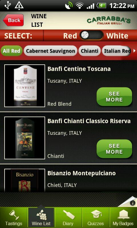 Carrabba's Uncorked - screenshot