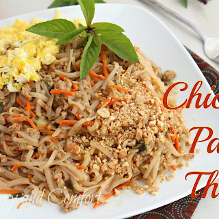 Chicken Pad Thai with Basil.