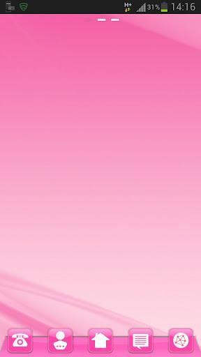 GO桌面粉紅色風格