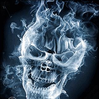 Smoking Skull Live Wallpaper