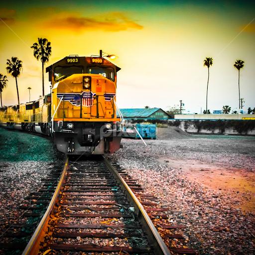 anaheim tracks railway tracks transportation pixoto
