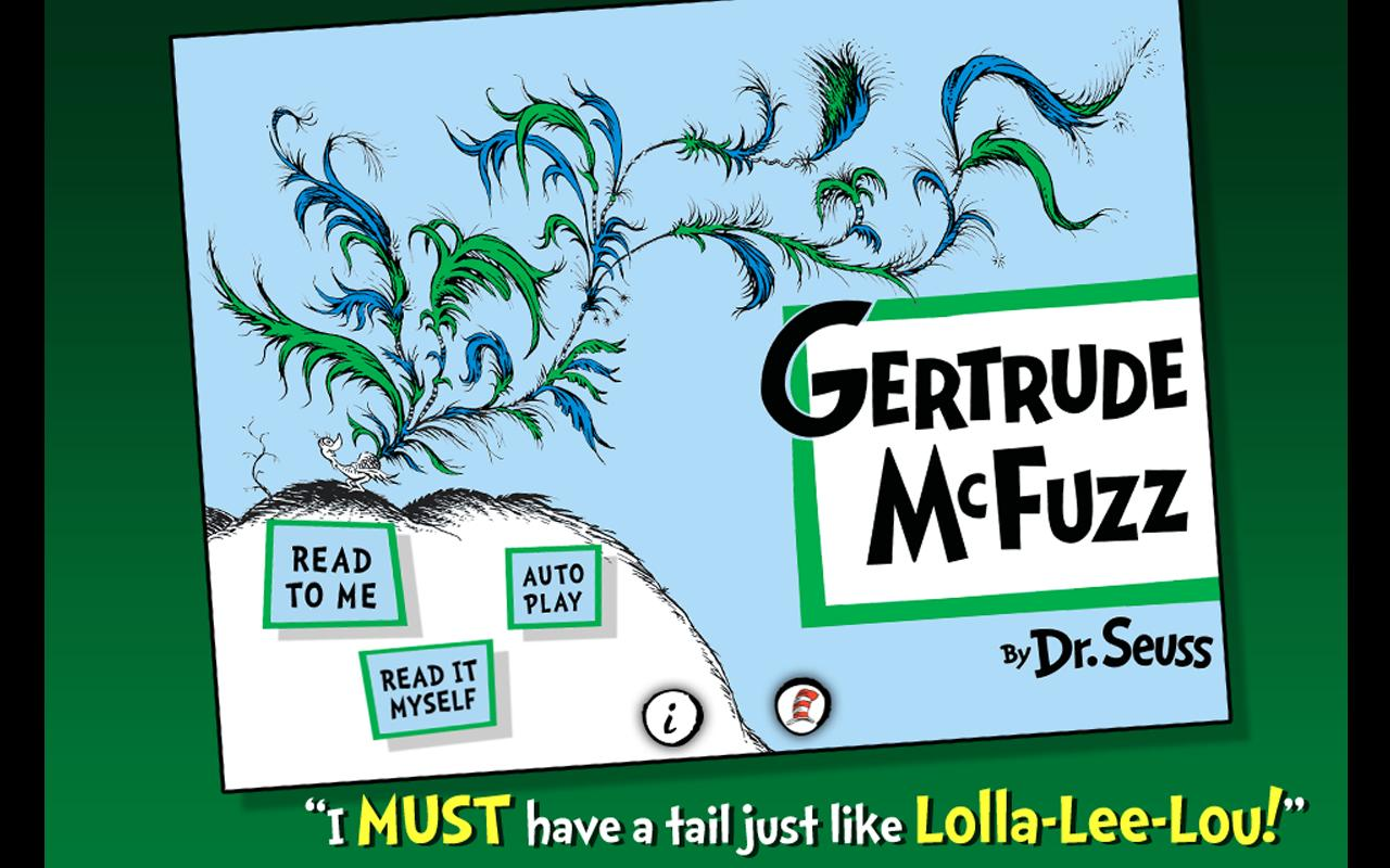 Gertrude McFuzz - Dr. Seuss- screenshot