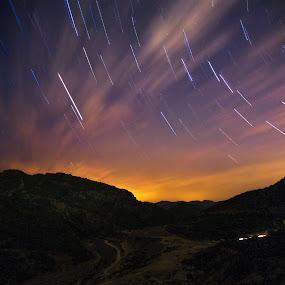 Molten Universe by Gabriele Copez - Landscapes Starscapes ( startrail, sardegna, mountain, sky, sardinia, stars, night, starscape, nightscape )