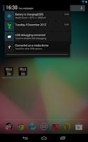 Screenshot of Date in Status Bar HD