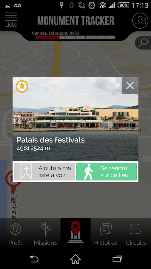 Cannes Guide Monument Tracker- screenshot