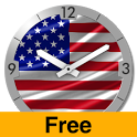 USA Flag Analog Clock Lite icon