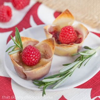 Raspberry Brie Bites.
