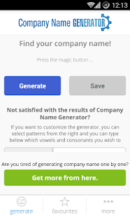 Company Name Generator screenshot