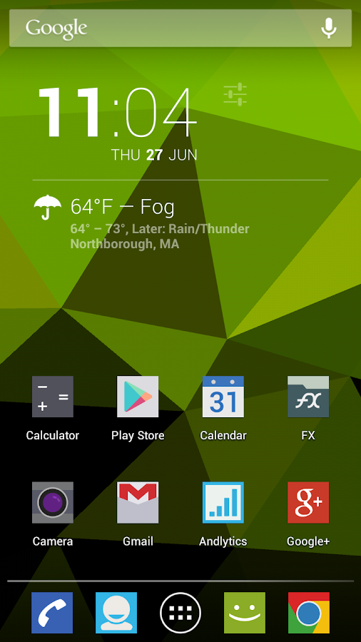 Nexus Triangles LWP- screenshot